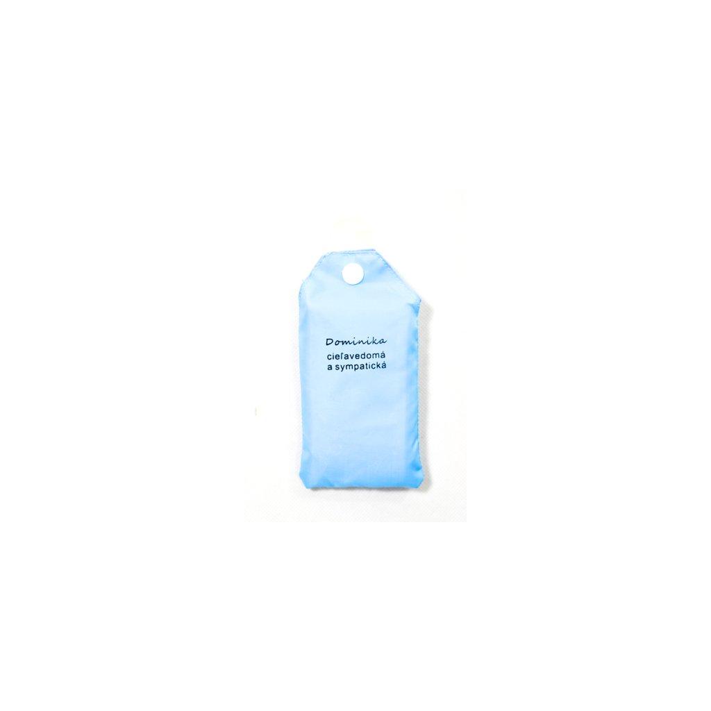 Nákupná taška s menom Dominika - cieľavedomá a sympatická 15ltr (Farba Červená, Veľkosť 15L)
