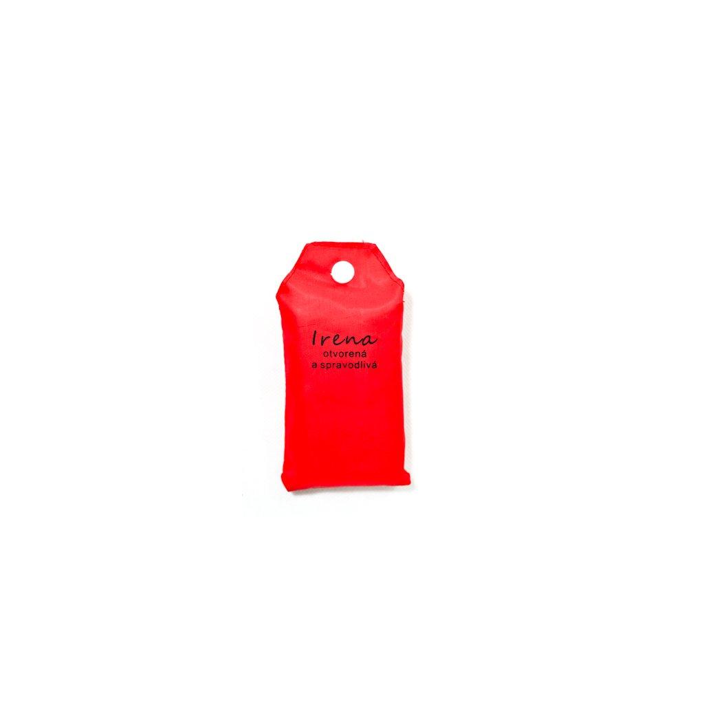 Nákupná taška s menom IRENA - otvorená a spravodlivá (Farba Červená, Veľkosť 15L)