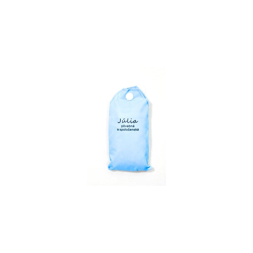 Nákupná taška s menom JÚLIA - pôvabná a spoločenská (Farba Červená, Veľkosť 15L)