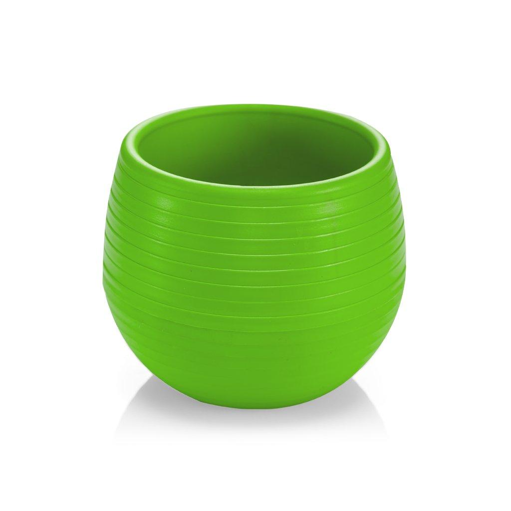 Kochlik plastový guľa 0,55L (Farba Zelená, Veľkosť 0.55L)