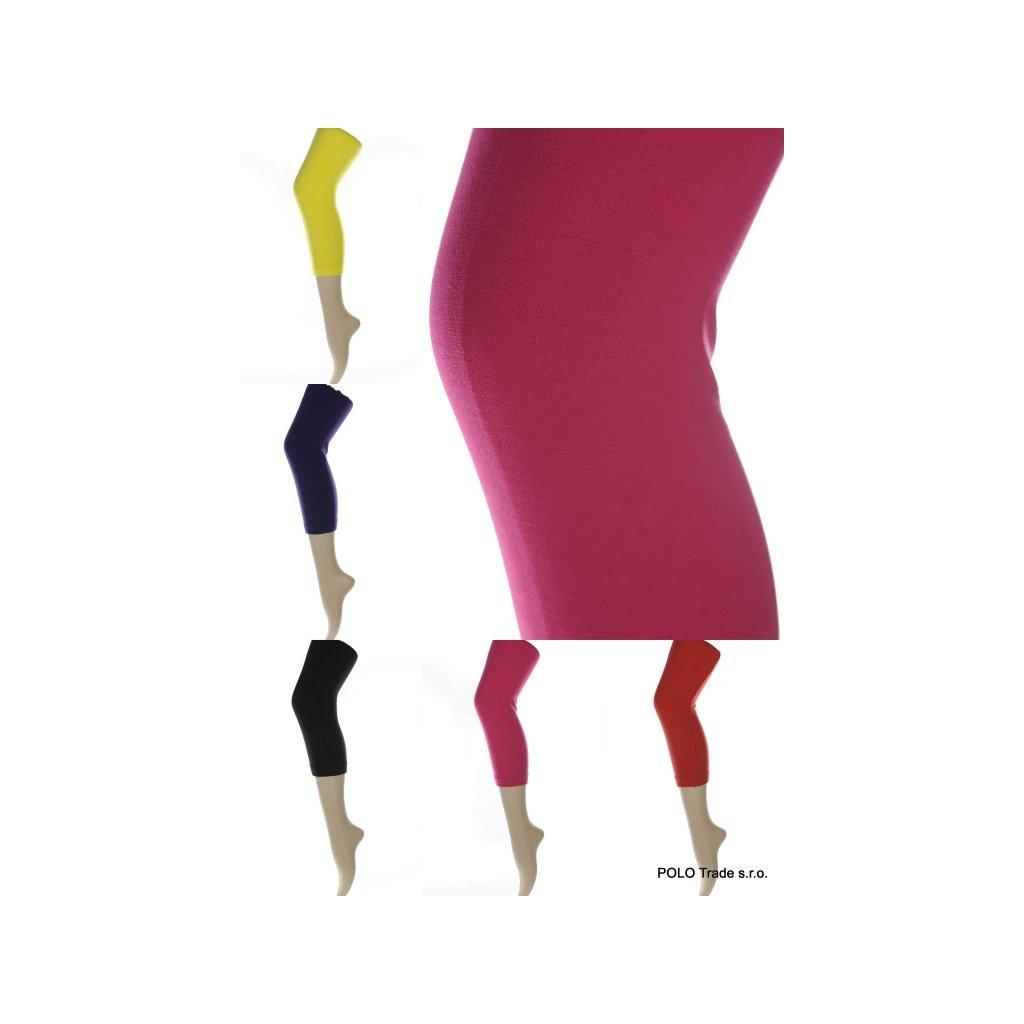 Dámske trojštvrťové jednofarebné legíny (Farba Žltá, Veľkosť M-XL)