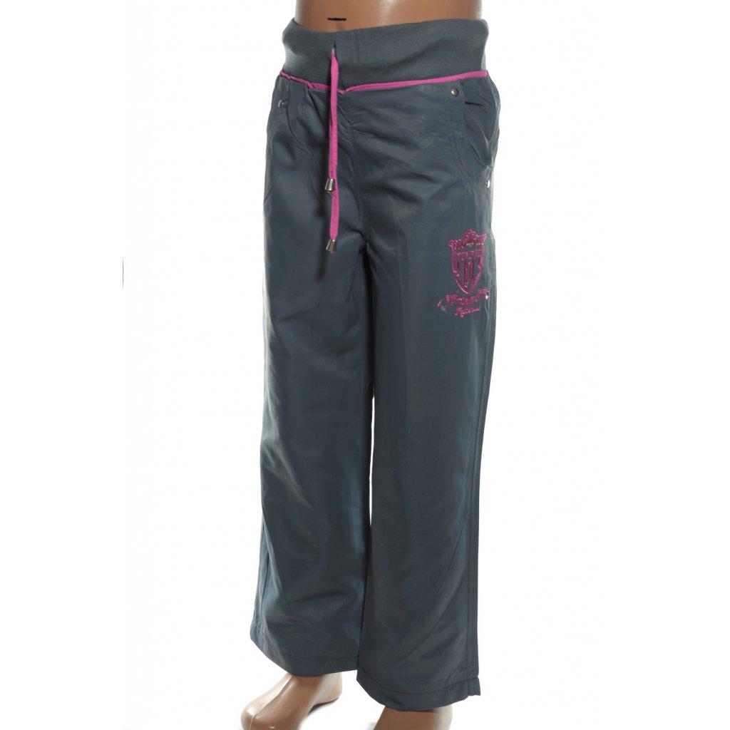 Dievčenské šušťákové nohavice (Farba Tmavomodrá, Veľkosť 116)
