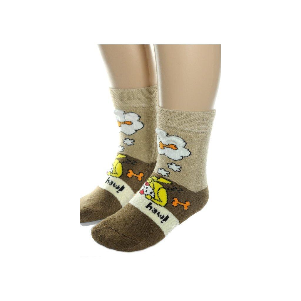 Detské ponožky - pes (Farba Modrá, Veľkosť 5/6r)