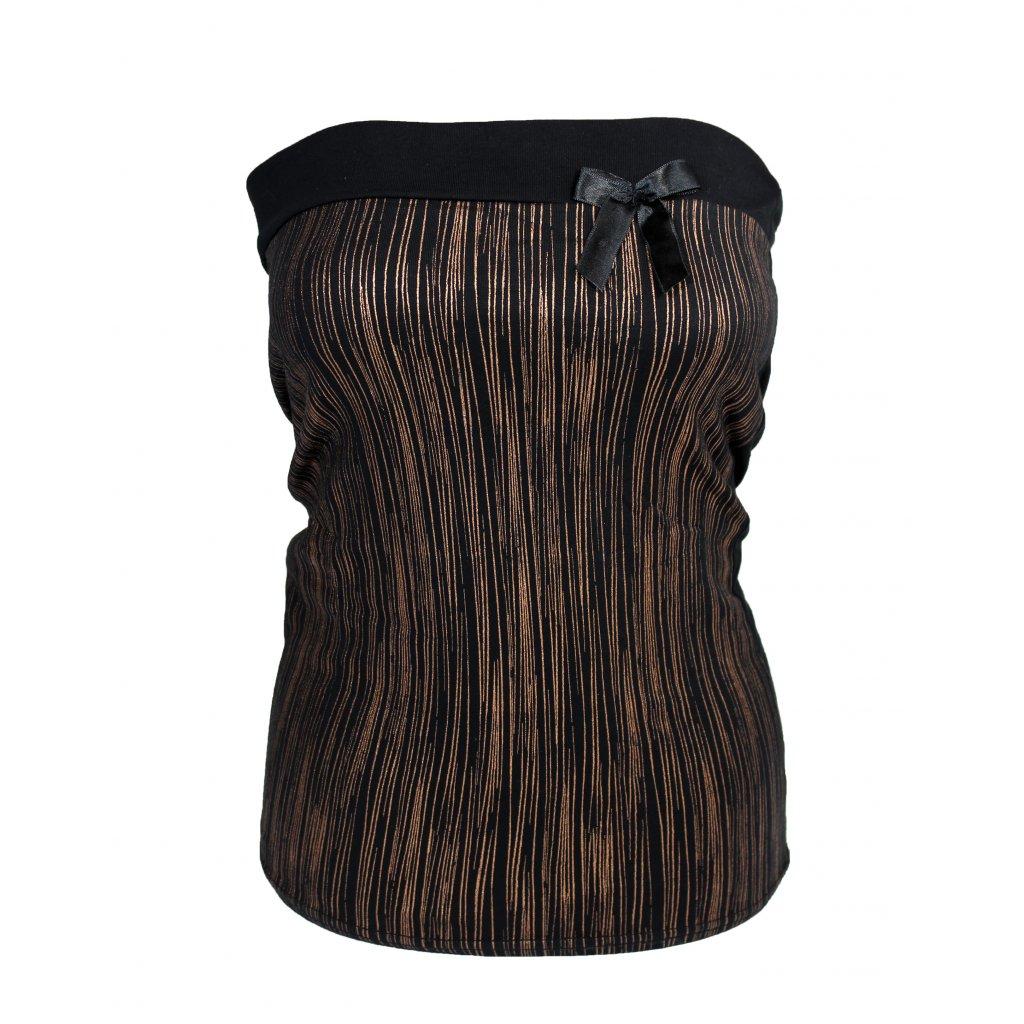 Dámsky top -NOBLESS mašlička (Farba Hnedá, Veľkosť S)