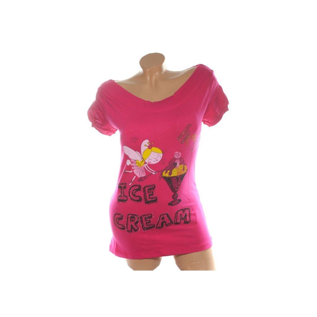 Dámske tričko - Ice Cream (Farba Svetloružová, Veľkosť S/M)