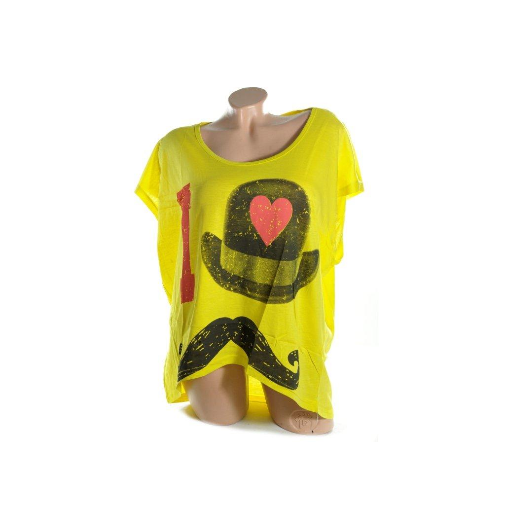 Dámske tričko - klobúk (Farba Šedá, Veľkosť XL/2XL)