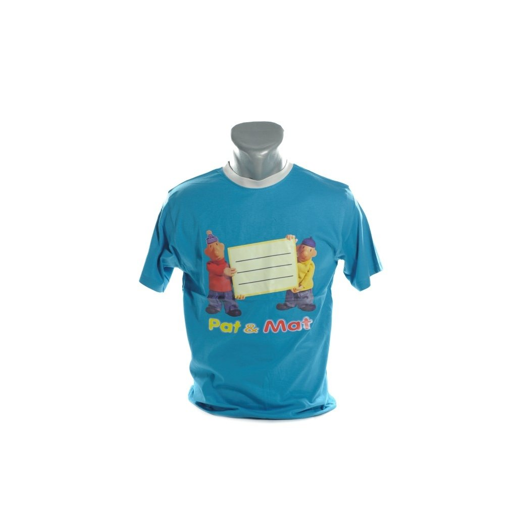 Detské tričko - Pat a Mat kratky rukav (Farba Biela, Veľkosť 146)