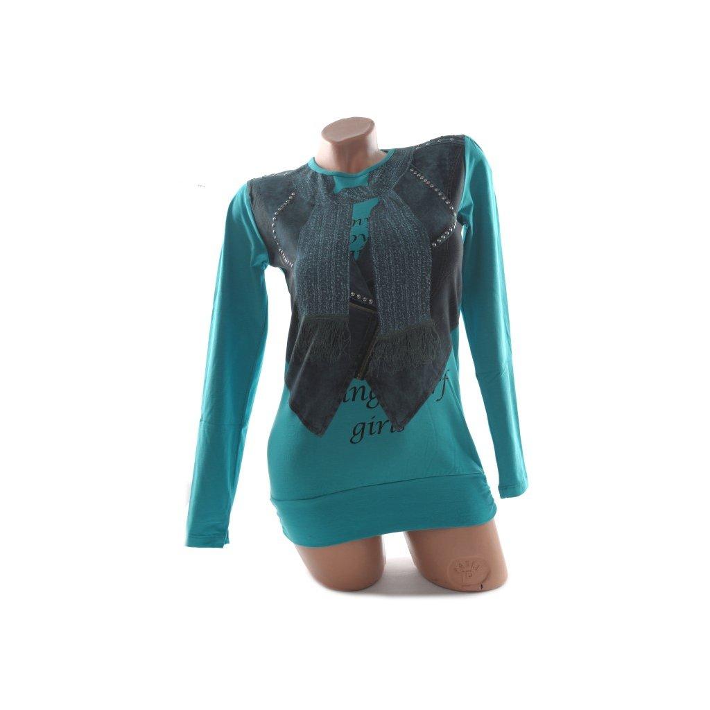 Detské tričko - šál, C-2-6127 (Farba Svetloružová, Veľkosť 8r)