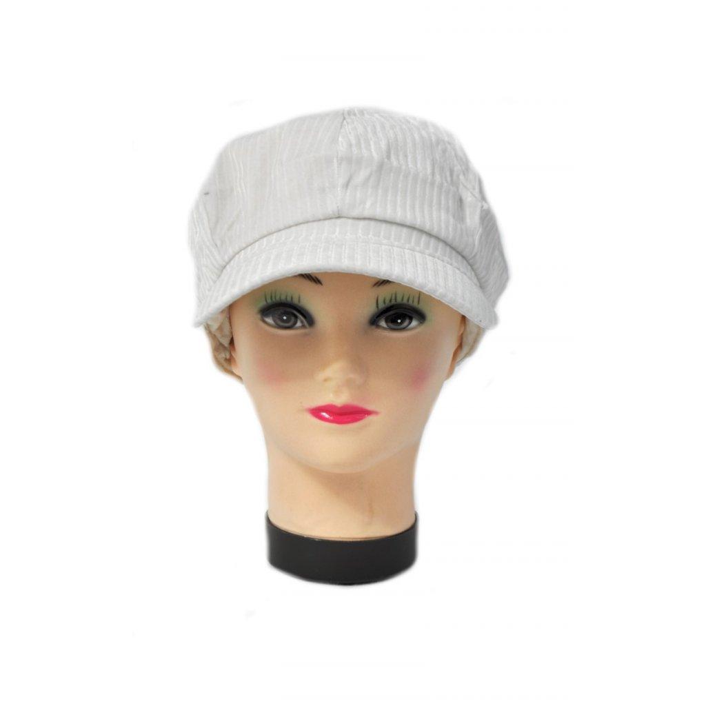 Dámska baretka so šiltom - Menčester (Farba Čierna, Veľkosť UNI)