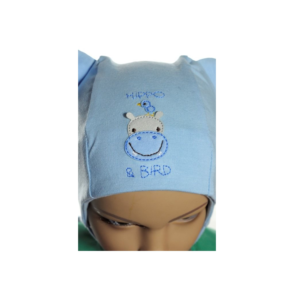 Detská čiapka Hippo (Farba Svetloružová, Veľkosť 42/44)