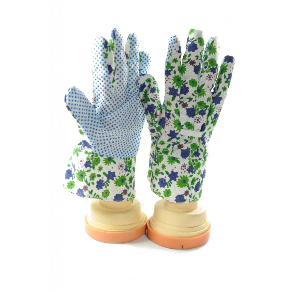 Dámske pracovné kvietkové rukavice, PoloTrade (Farba Modrá, Veľkosť Neurčená)