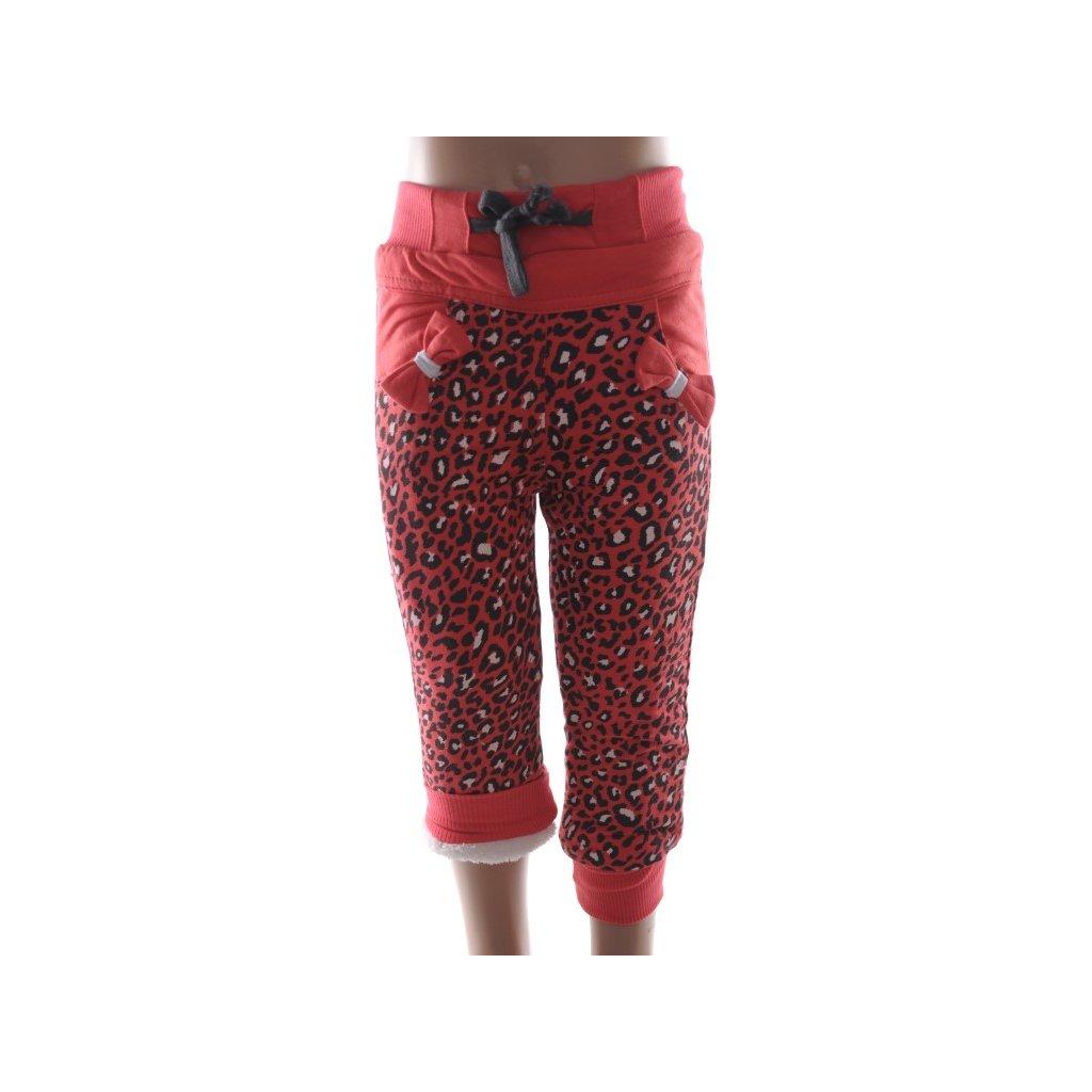 Detské zateplené nohavice - mašličky (Farba Tmavoružová, Veľkosť 36m)