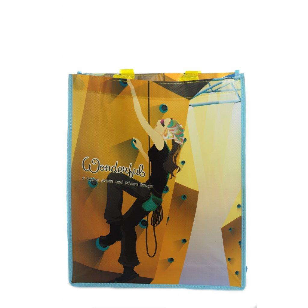 Eko taška - horolezec (Farba Svetlomodrá, Veľkosť 26x32cm)