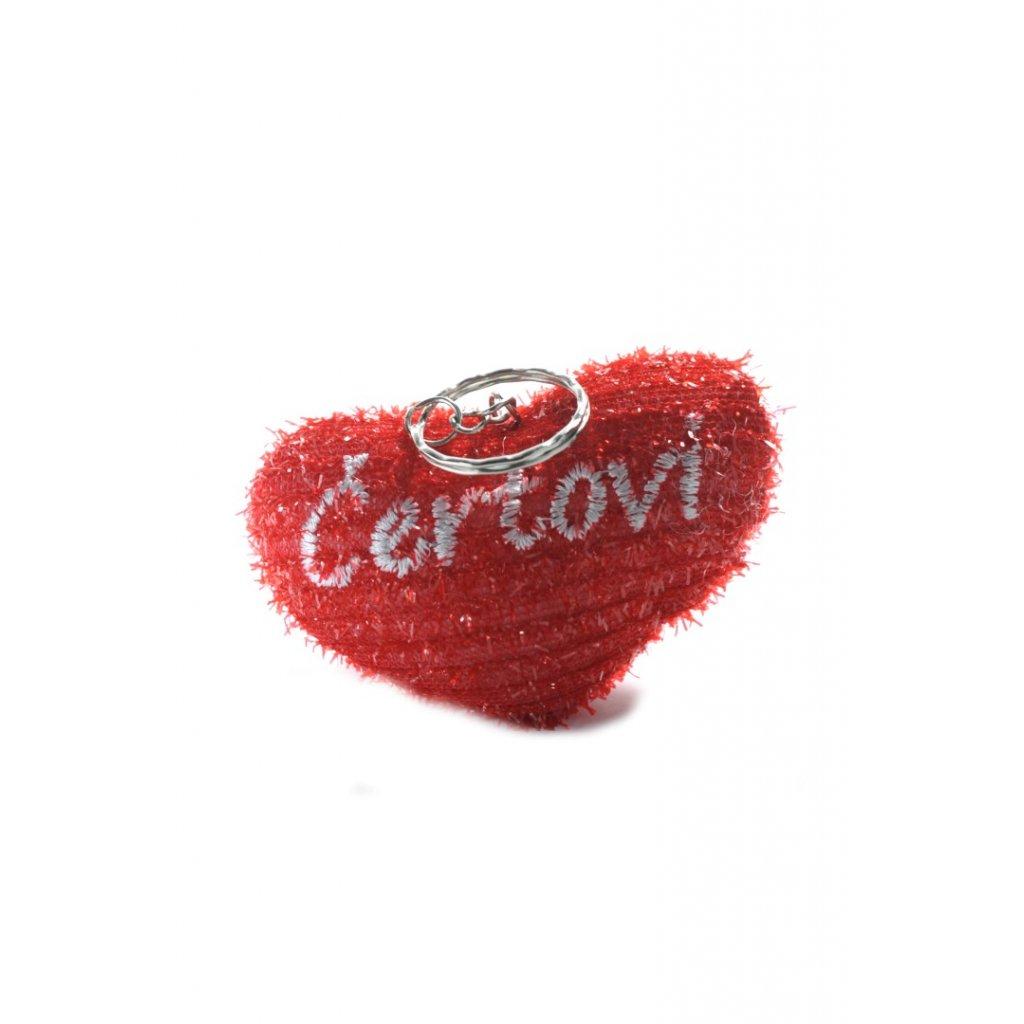 Prívesok na kľúče čertovi (Farba Červená, Veľkosť 7x4cm)