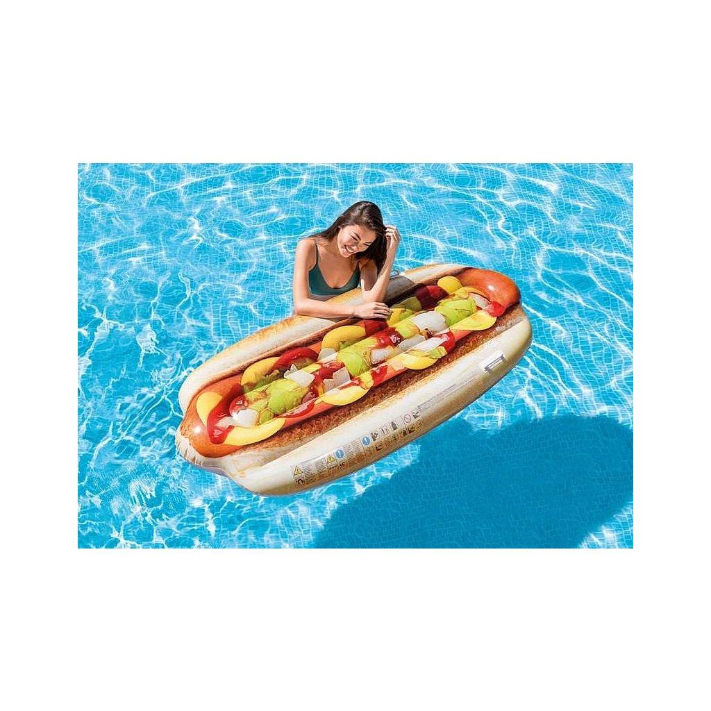 Nafukovačka hot-dog 180*89cm (Farba Multifarebné, Veľkosť 180x89)