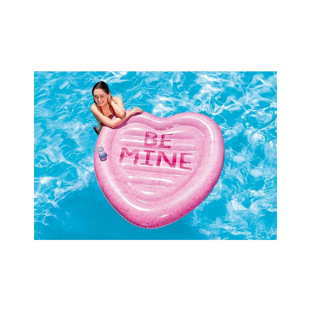 Nafukovačka srdce 145*142cm (Farba Ružová, Veľkosť 145x142)