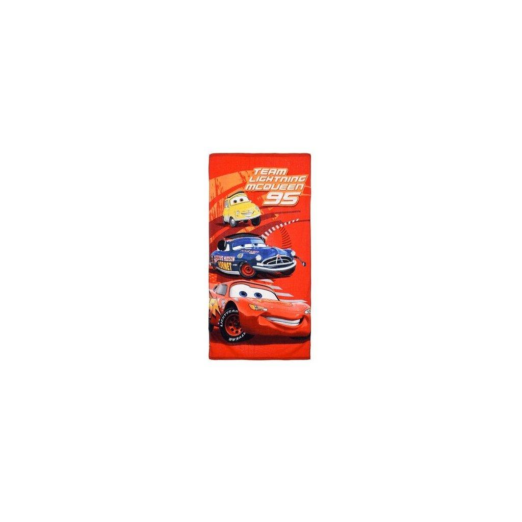 Plážová osuška Cars Team Lightning 95, PoloTrade (Farba Červená, Veľkosť 70x140cm)