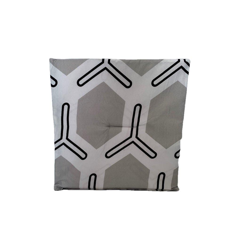 Jednostranný sedák geometricke tvary, PoloTrade (Farba Svetlošedá, Veľkosť 1761 - 37*37CM)