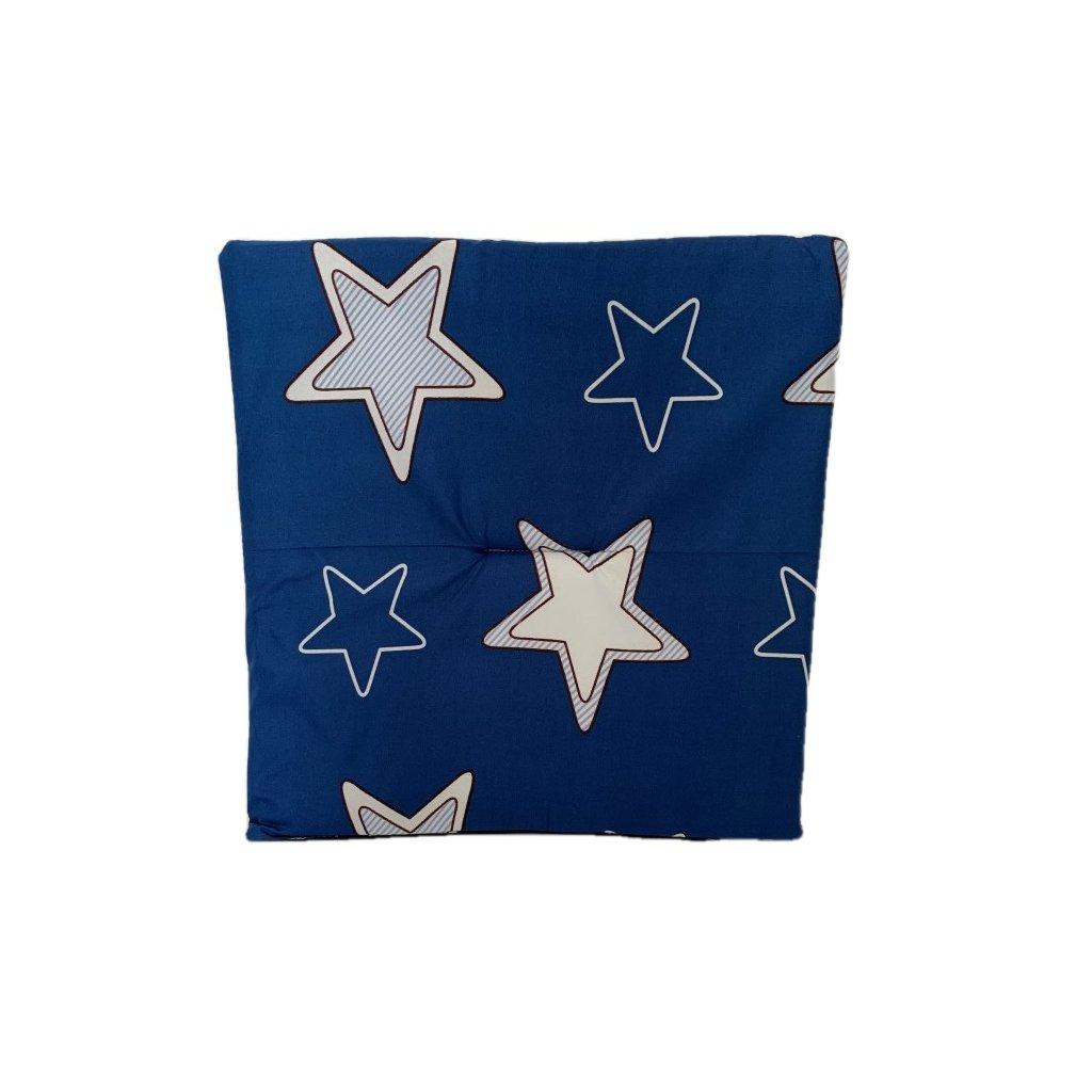 Jednostranný sedák hviezdy, PoloTrade (Farba Modrá, Veľkosť 1761 - 37*37CM)
