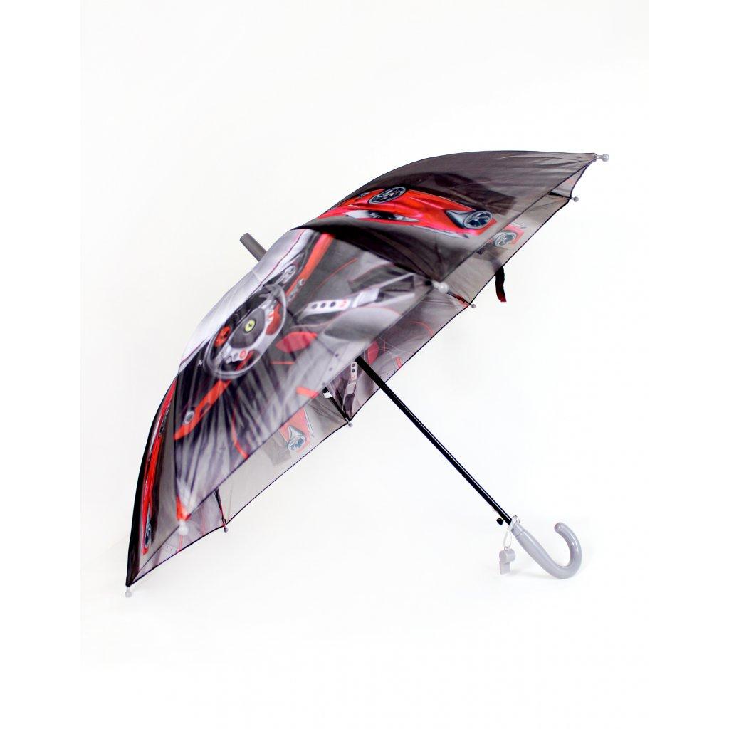 Detský dáždnik - Ferrari, P85cm (Farba Šedá, Veľkosť 66cm)