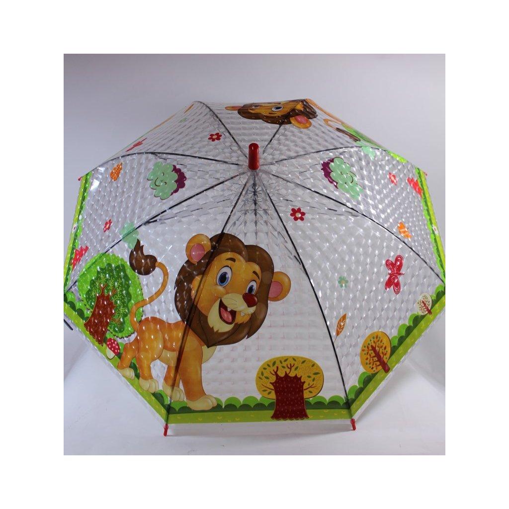 Detský dáždnik lev 66cm (Farba Neurčená, Veľkosť Neurčená)