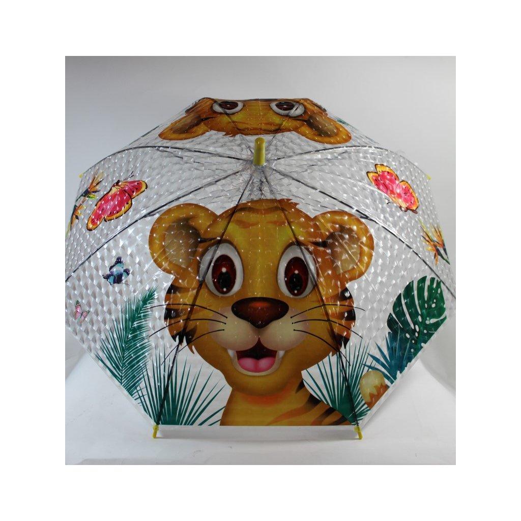 Detský dáždnik tiger 66cm (Farba Žltá, Veľkosť 66cm)