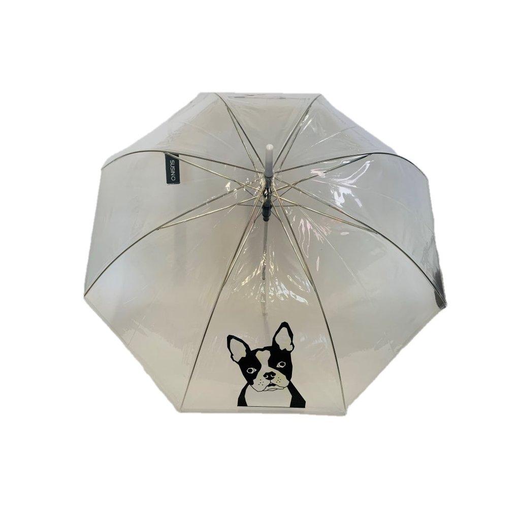 Dáždnik priehľadný pes 82cm, P100cm (Farba Transparent, Veľkosť 82cm)