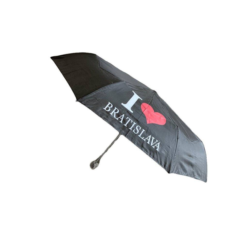 Skladací dáždnik I Love Bratislava 25cm (Farba Čierna, Veľkosť 25cm)