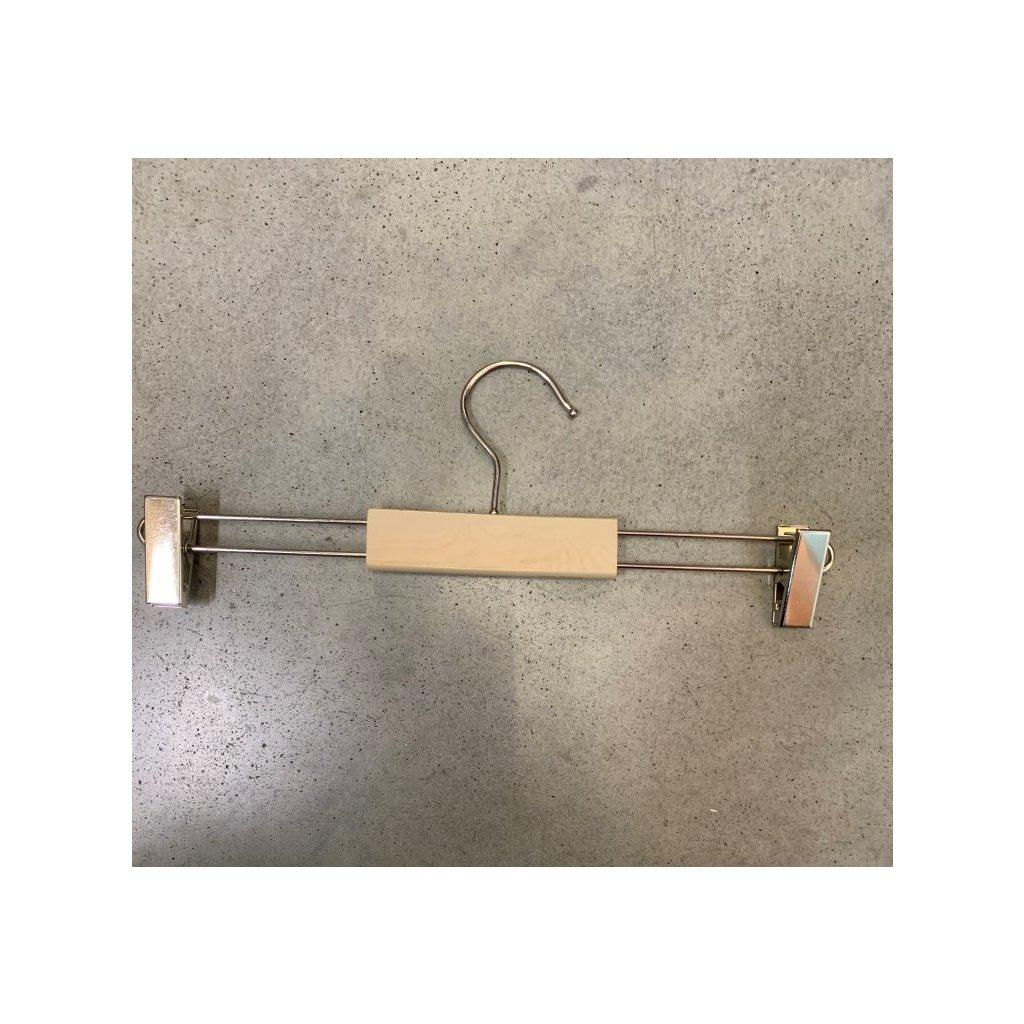 Drevený vešiak štipec - ramienko 34cm