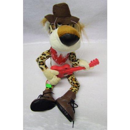 Plyšový tiger - gitarista (Farba Hnedá, Veľkosť Neurčená)
