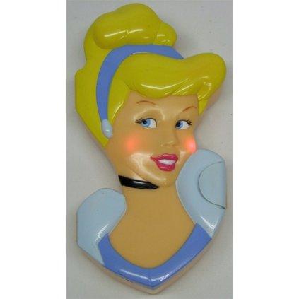 Detský plastový svietiaci peračník Princess, PoloTrade (Farba Modrá, Veľkosť Neurčená)