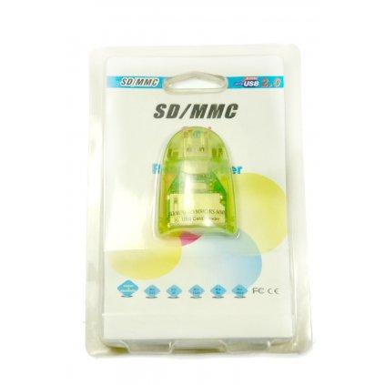 USB čítačka pamäťových kariet malá (Farba Čierna, Veľkosť Neurčená)