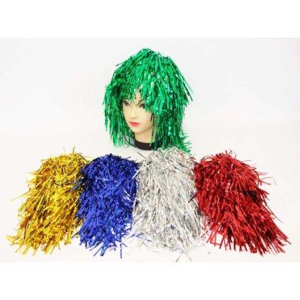Party vlasy Parochňa (Farba Červená, Veľkosť Neurčená)
