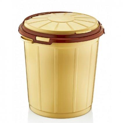 Odpadkový kôš 50L, Dunya (Farba Šedá, Veľkosť 50L)