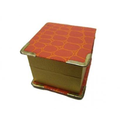 Krabička na bižutériu oranžová (Farba Oranžová, Veľkosť Neurčená)