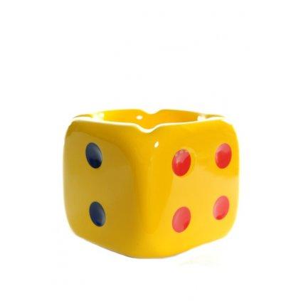 Popoľník - hracia kocka (Farba Žltá, Veľkosť Neurčená)