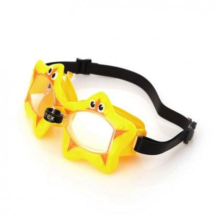 Intex Detske plavecké okuliare hviezda (Farba Žltá, Veľkosť Neurčená)