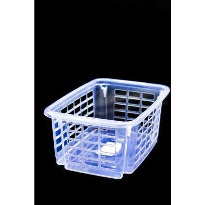Priehľadný plastový košík malý 5,5 l (Farba Ružová, Veľkosť Neurčená)
