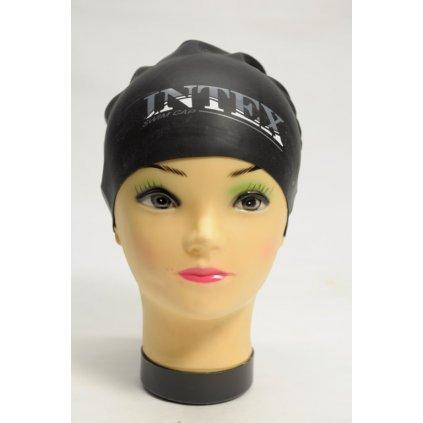 Kúpacia čiapka Intex Swim Cap Unisex (Farba Čierna, Veľkosť Neurčená)