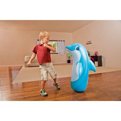 Delfín 3-D panák nafukovací 98*44cm (Farba Modrá, Veľkosť 97x61cm)