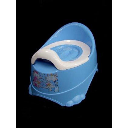 Detský nočník protišmykový (Farba Svetlomodrá, Veľkosť Neurčená)