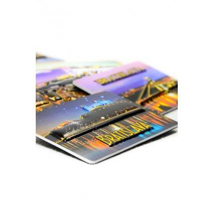 3D magnetka Bratislavy - nočný pohľad na hrad (Farba Multifarebné, Veľkosť Neurčená)