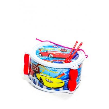 Detská bubon s paličkami Racing Car, 21cm (Farba Svetlomodrá, Veľkosť 21x21cm)