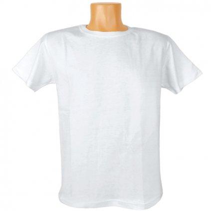 Detské biele tričko - na potlač, C-2-923 (Farba Biela, Veľkosť 5/6r)