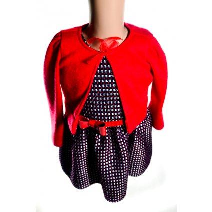 Dievčenské bolerko - červené (Farba Červená, Veľkosť 92)