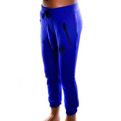 Chlapčenské tepláky s nízkym sedom (Farba Modrá, Veľkosť 116)