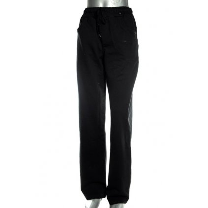 Dámske tepláky - zips na zadných vreckách (Farba Čierna, Veľkosť S)