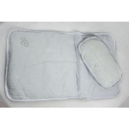 Detský kojenecký set perinka a vanúš, vzor kvietky (Farba Biela, Veľkosť 64x40cm)