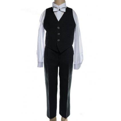 Detský komplet, oblek čierny - vesta + nohavice (Farba Čierna, Veľkosť 86)