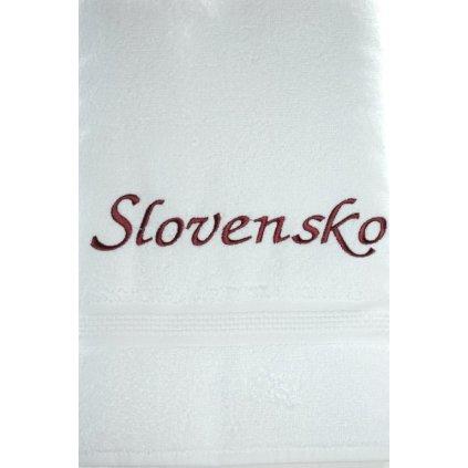 Osuška Slovensko - biela, 70x140cm, PoloTrade (Farba Biela, Veľkosť 70x140cm)